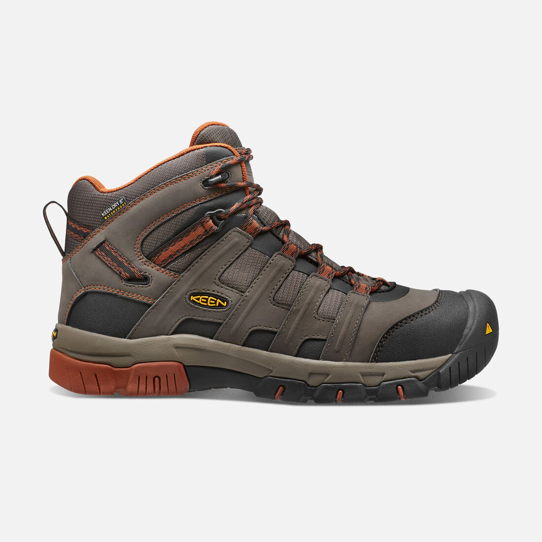 Men's Omaha Waterproof Boot (Steel Toe) in Black Olive/Gingerbread - large view.
