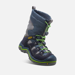 Big Kids' Winterport II Waterproof in Midnight Navy/Jasmine Green - small view.