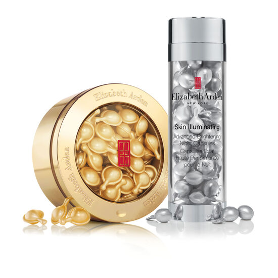 Online Only! Elizabeth Arden Daily Youth & Brightening Night Capsule Set, , large