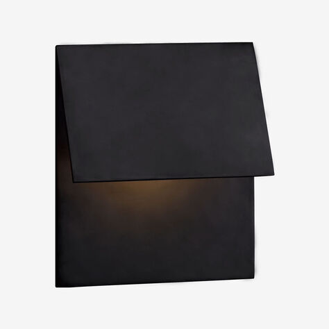 ESKER SINGLE FOLD SCONCE - BRONZE