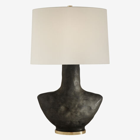ARMATO TABLE LAMP - STAINED BLACK w/ LINEN