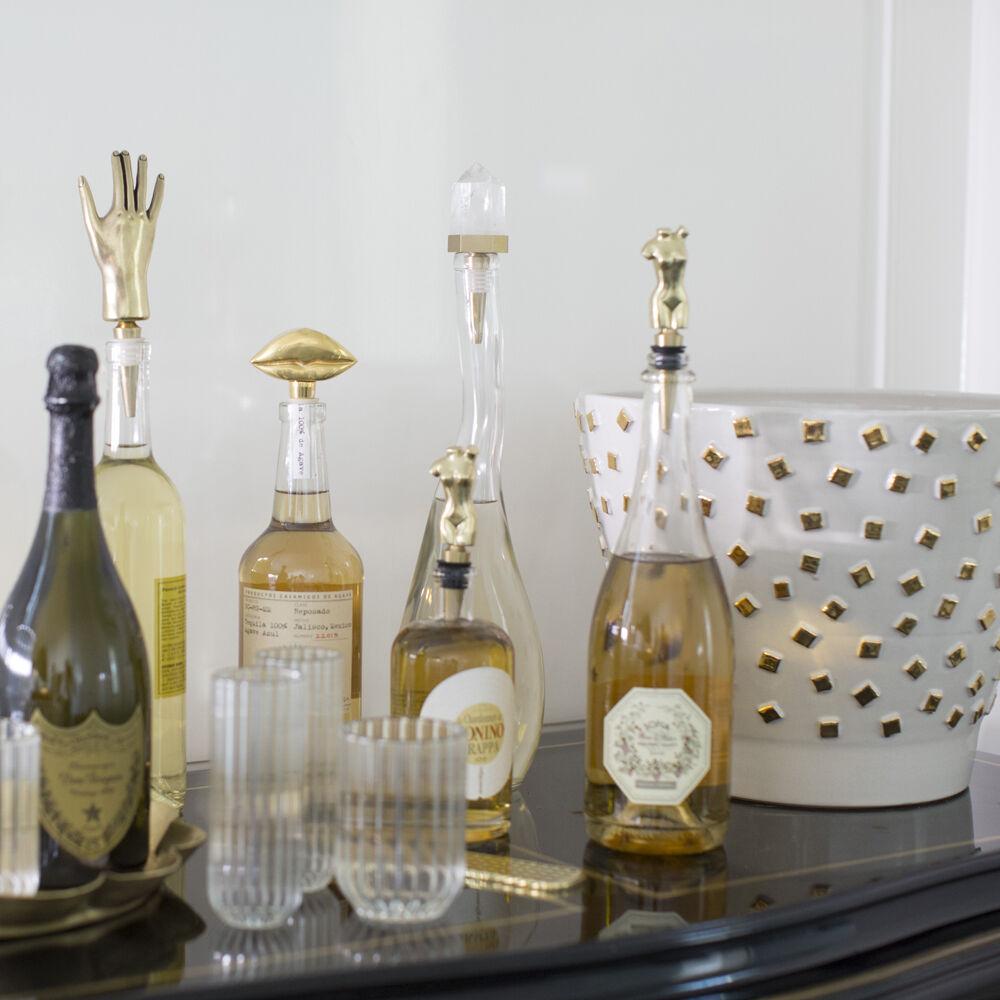 Crystallized Wine Stopper by Kelly Wearstler