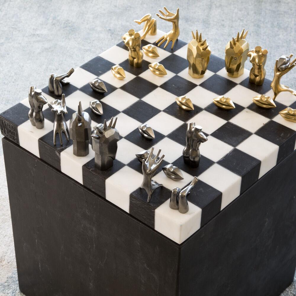 Dichotomy Chess Set by Kelly Wearstler