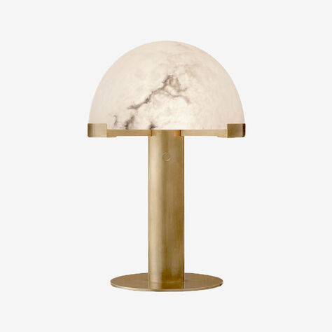 MELANGE DESK LAMP - BRASS w/ ALABASTER