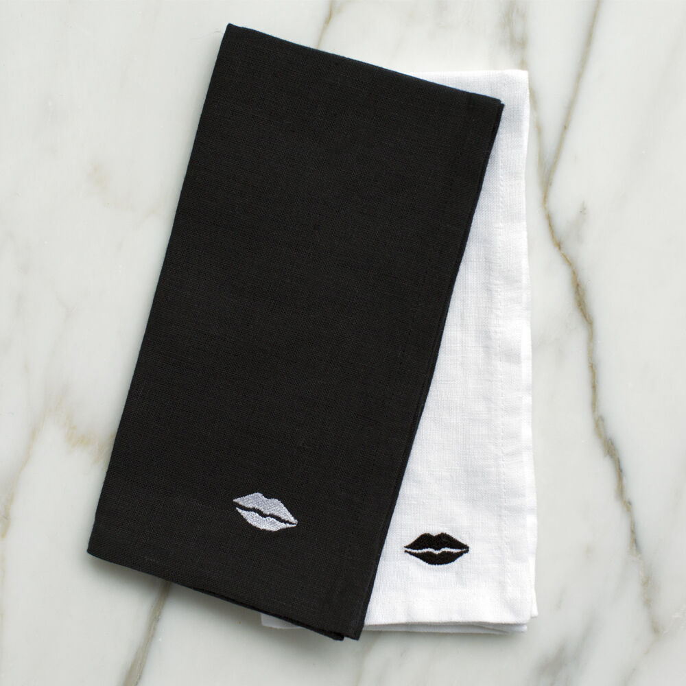 KISS DINNER NAPKINS - BLACK