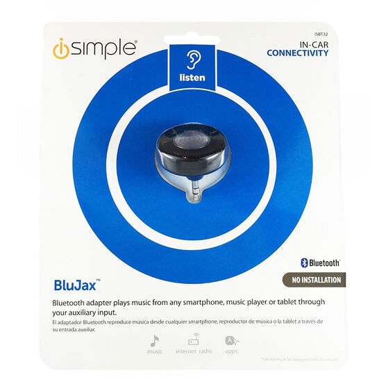 iSimple BluJax Wireless AUX Cable Bluetooth Receiver - ISBT32