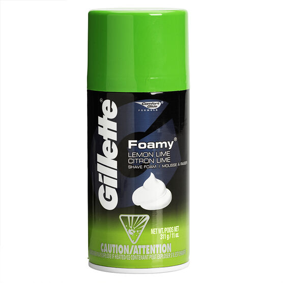 Gillette Foamy Shaving Cream - Lemon Lime - 311g