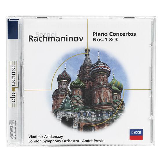 Vladimir Ashkenazy - Rachmaninoff: Piano Concertos Nos. 1 & 3 - CD