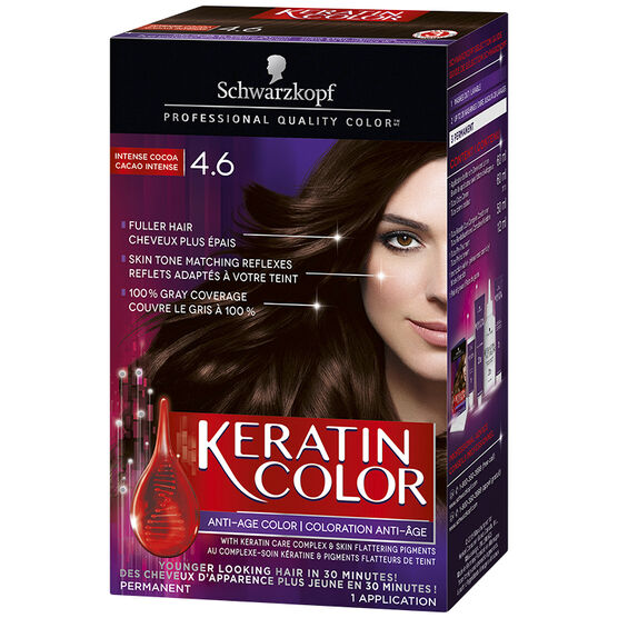 Schwarzkopf Keratin Color Anti-Age Permanent Hair Colour - 4.6 Intense Cocoa