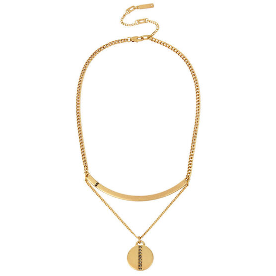 Kenneth Cole Double Disc Necklace - Gold
