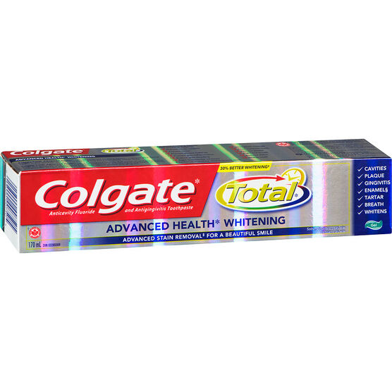 Colgate Total Advanced Health Whitening Toothpaste - 170ml