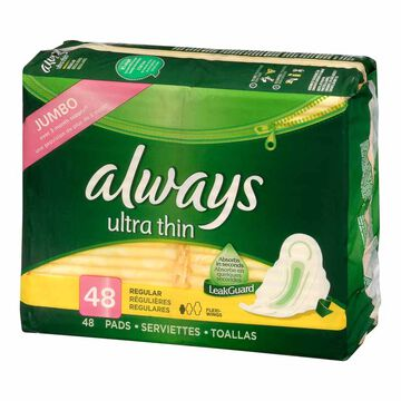 Always Ultra Thin - Regular - 48's