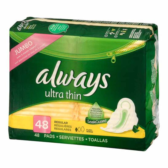 Always Ultra Thin - Regular - 48's