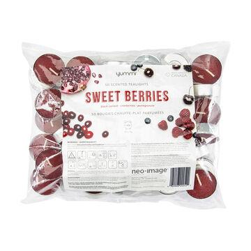 Yummi Tealight Candles - Sweet Berry - 50's
