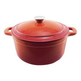 Neo Cast Iron Oval Covered Casserole - Orange - 5qt
