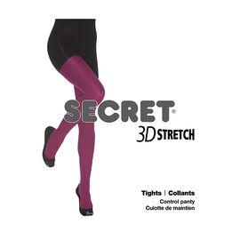 Secret 3D Stretch Tights - C - Black