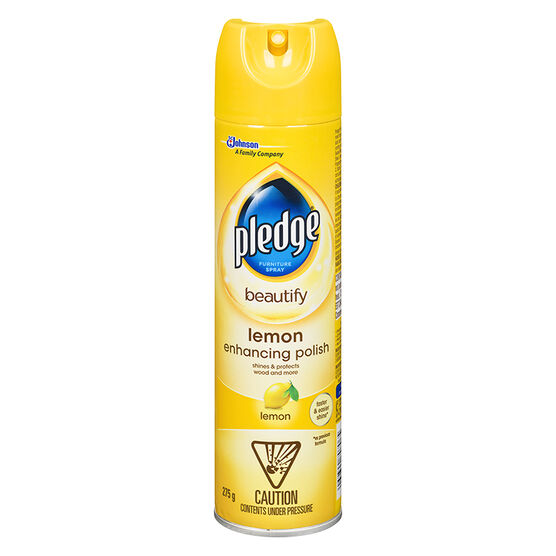 Pledge Furniture Spray Lemon Fresh 275g London Drugs