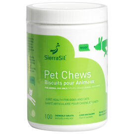 SierraSil Pet Chew Tablets - 100's