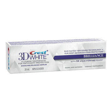 Crest 3D White Toothpaste Brilliance - Vibrant Peppermint - 20ml