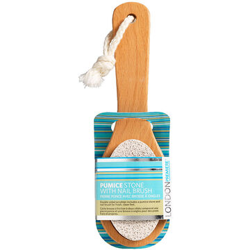 London Premiere Pumice Stone with Nail Brush