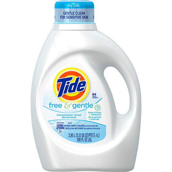 Tide Liquid Laundry Detergent - Free & Gentle - 2.95L/64 use