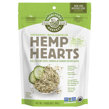 Manitoba Organic Hemp Hearts - 340g