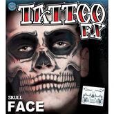 Halloween Tattoo FX Skull Face