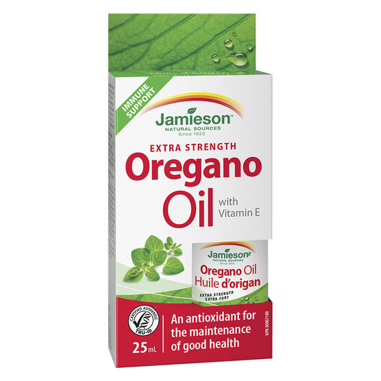 Jamieson Oregano Oil with Vitamin E - Extra Strength - 25ml