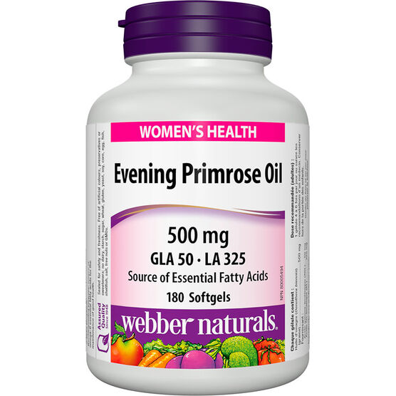 Webber Naturals Evening Primrose Oil 500mg - 180's