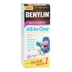 Benylin Children's All-in-One Cold & Fever Syrup - Bubble Gum - 100ml