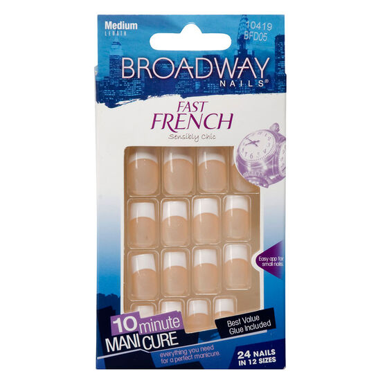 Broadway Nails Fast French Nail Kit - Peach