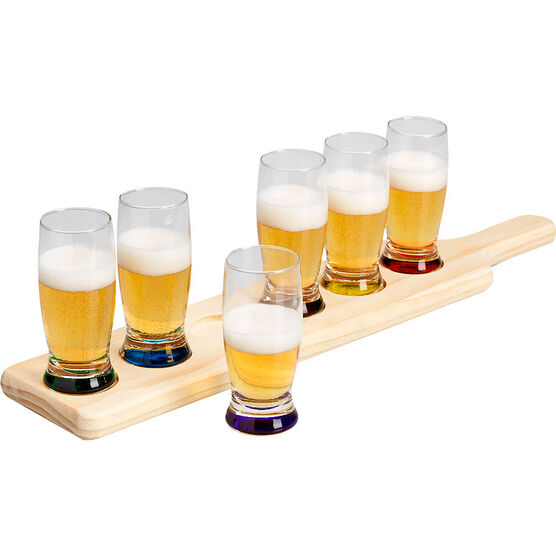 London Drugs Shot Glass Set with Tray - 7 piece