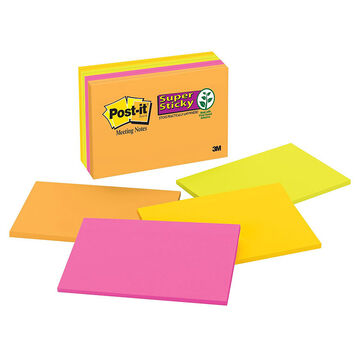 3M Post-It Super Sticky Meeting Notes - 8 Pads Per Pack