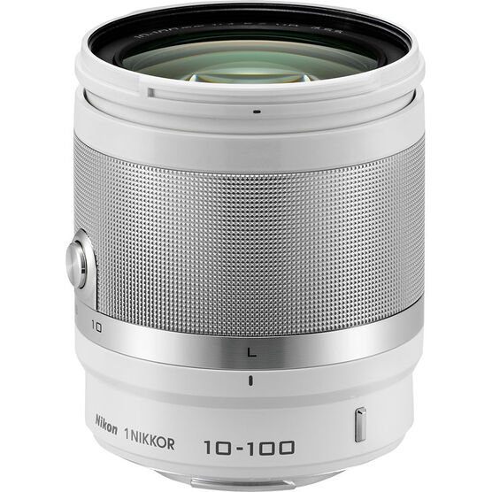 Nikon 1 10-100mm VR Lens - White - 3327 - Open Box Display Model