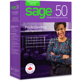 Sage 50 Pro Accounting with Payroll: Canadian Edition - 2018 - CPROPS2018RT