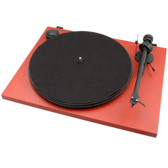 Pro-Ject Essential II OM5E Turntable - Matte Red - PJ50438248