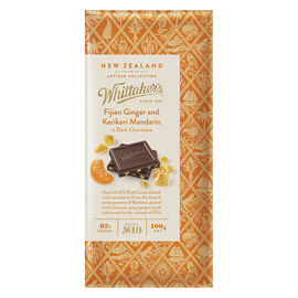 Whitteraker's Dark Chocolate - Fijian Ginger and Kerikeri Mandarin - 100g