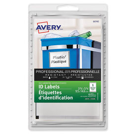 Avery Self-Laminating Label with Grey Border - 3-3/4 x 5-3/4 Inches - 4 pack
