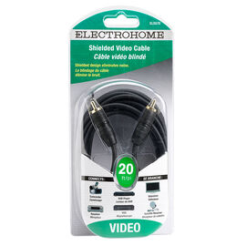 Electrohome 20-ft Shielded Audion Cable 1 RCA to 1 RCA - ELS575
