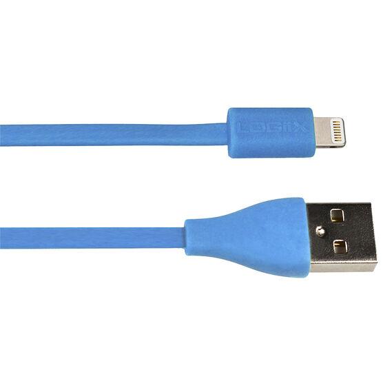 Logiix Flat Flex Jolt Lightning Cable - 1.5m - Turquoise - LGX10862