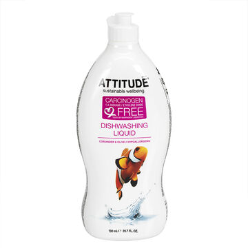 Attitude Dishwashing Liquid - Coriander & Olive - 700 ml