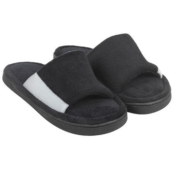 Isotoner Stretch Slide On Slipper - Black - Extra large