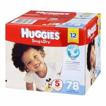 Huggies Snug & Dry Disposable Diaper - Size 5 - 78's