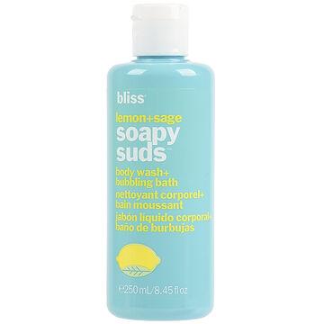 Bliss Lemon + Sage Soapy Suds Body Wash + Bubbling Bath - 250ml