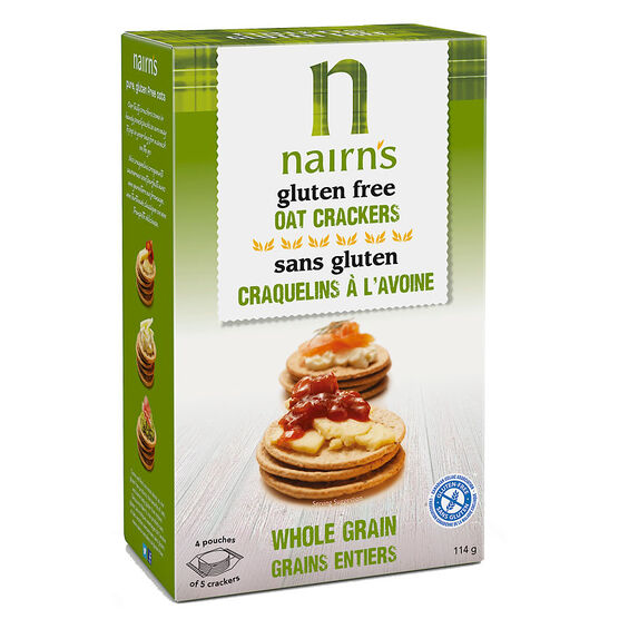 Nairns Gluten Free Oat Crackers - Whole Grain - 114g