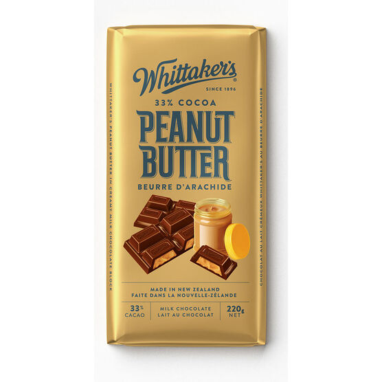 Whittakers Milk Chocolate - Peanut Butter - 200g