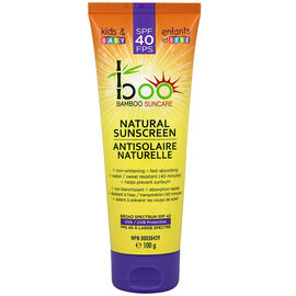 boo Bamboo Suncare Kids & Baby Natural Sunscreen - SPF40 - 100g