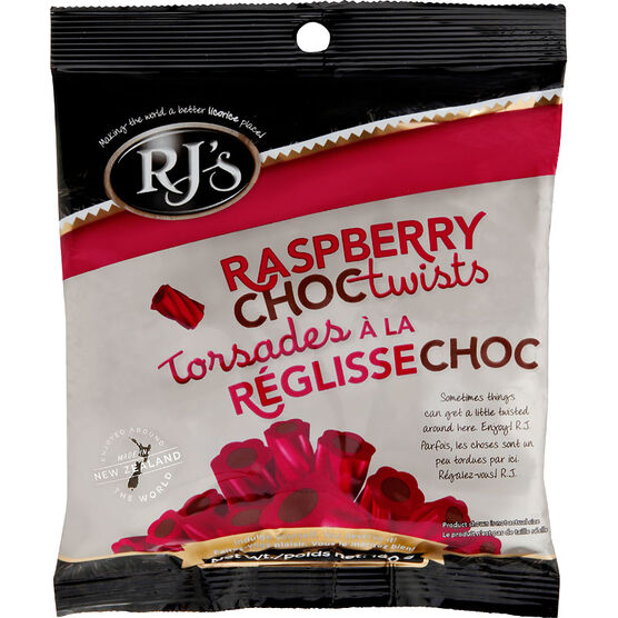 Rj's Licorice - Raspberry Chocolate Twist - 180g