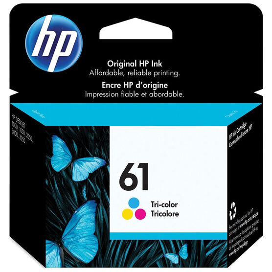 HP 61 Tri-color Ink Cartridge - CH562WC#140