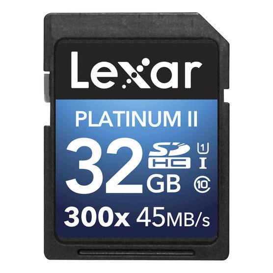 Lexar Platinum II 300X SDHC - 32GB - LSD32GBBNL300
